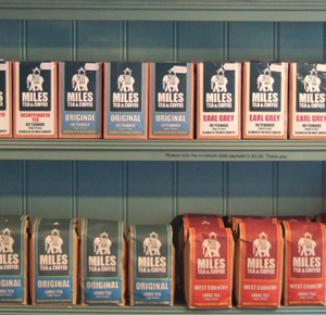 A LARGE SELECTION OF LOCALLY BLENDED TEA & COFFEE